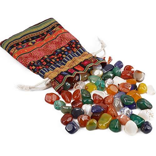 Piedras Curativas Natural 200g,Mixtas Piedras Preciosas Naturales,Minerales y Piedras Preciosas,Piedras Semipreciosas para Niños Gemas,Cristal Curación Guijarros para Acuarios Jardin Decorativas
