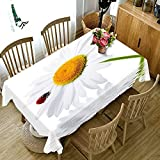 Mantel Rectangular con Flor de Mariposa 3D, Cocina casera, Mesa de Centro para Sala de Estar, Mantel Impermeable y a Prueba de Aceite M-5 140x160cm