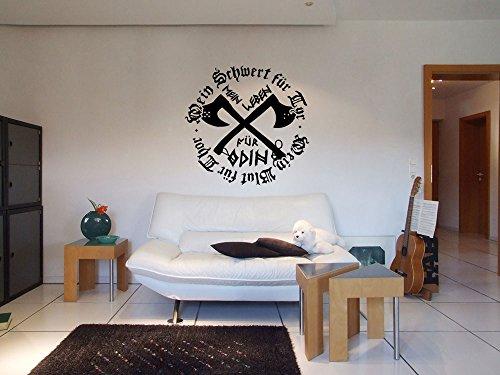 Wotan Textil Adhesivo Decorativo para la Pared con Texto en alemán: Mein Leben für Odin