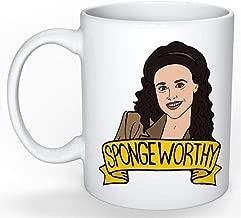 SkyLine902 - Elaine Benes Mug (Jerry Seinfeld, George Costanza, Cosmo Kramer, Larry David, Curb your Enthusiasm), 11oz Ceramic Coffee Novelty Mug/Cup, Gift-wrap Available