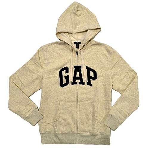 GAP Herren Fleece Arch Logo Zip Up Hoodie -  Beige -  X-Large