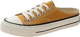 DDDXXX dames sportschoenen lente en zomer vlakke hiel ronde tenen dagelijks vaste gekleurd doek geel