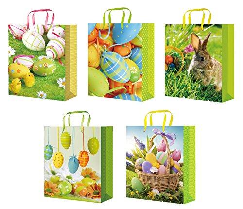 10 Geschenktüten Ostern Osterhase Medium M 23 x 18 x 10 cm Geschenktaschen Papier-Tragetaschen 13-2021