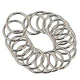 MHXY Fibbia della Borsa Metallo O Ring 38 Millimetri Larghezza del Cinturino di Regolazione della Tessitura Cinture Fibbia Confezione da 20 Bagaglio