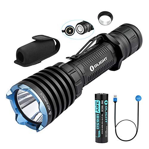 Olight Warrior X Tactical Taschenlampen 2000 Lumen / 560 Meter Cree XHP35 NW LED USB-wiederaufladbare USB Flashlight Leistungsstarkes taktisches Taschenlampe, mit 18650 Batterie + BanTac Batteriefach