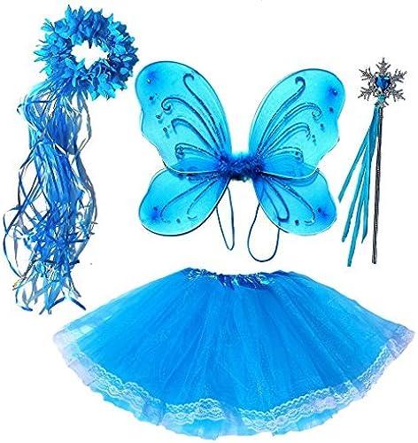 promociones Frozen Inspirojo Girls Fairy Costume (Age 2-7) 2-7) 2-7) 4 Piece Set by Fairytale Play  en stock