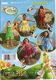 Simplicity Pattern 0805 Disney Fairies, Tinker Bell, Silvermist, Iridessa, Vidia, Rosetta, Little Girls' Sizes 3 to 8