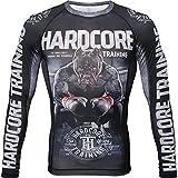 Hardcore Training Ground Shark The Moment of Truth Rash Guard Men's Camisa de Compresión Hombre MMA BJJ Boxeo Fitness Grappling No Gi