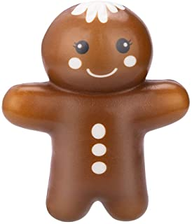 Christmas Squishy Toys Slow Rising Squishes Stress Relief Toys for Adults and Kids Christmas Party Favors Gingerbread Snowman (Gingerbread)