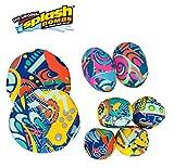 Splash Bombs Combo Pack 2-Pack (4 Splash Balls, 2 Splash Footballs, 2 Splash Flying Disc) by Prime Time Toys