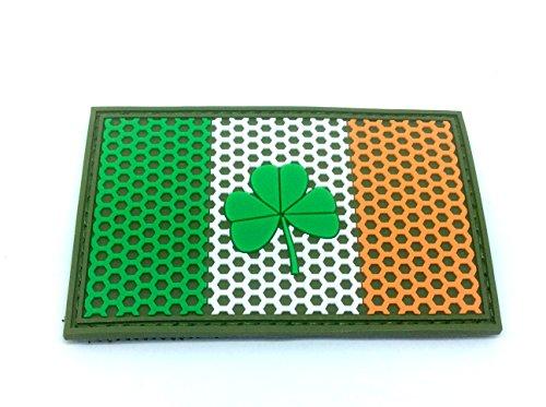 Ierse Ierse klaverblad mesh rooster wapen vlag Airsoft klittenbandsluiting PVC team patch