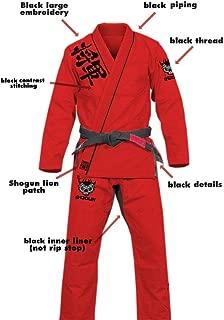 SHOGUN Fight Jiu Jitsu Gi 'Kanji' 450g Pearl Weave Cotton Premium BJJ