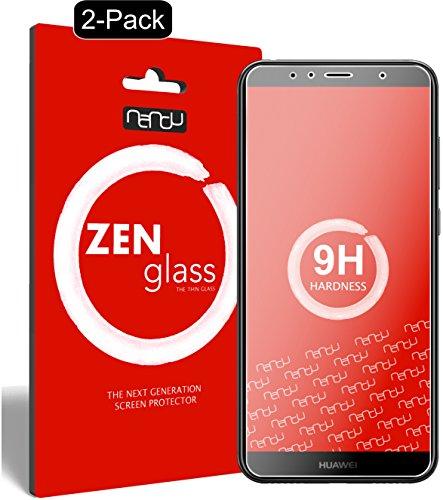 ZenGlass [2 Stück Flexible Glas-Folie kompatibel mit Huawei Honor 7a Panzerfolie I Bildschirm-Schutzfolie 9H I (Kleiner Als Das Gewölbte Bildschirm)