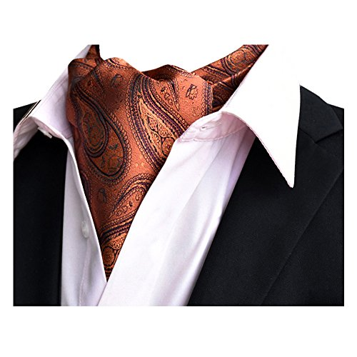 YCHENG Ascotkrawatte Gemustertes Quadratische Herren Bandana Tuch Halstuch Ascot Krawatte Gold 118 * 16 * 5.5cm