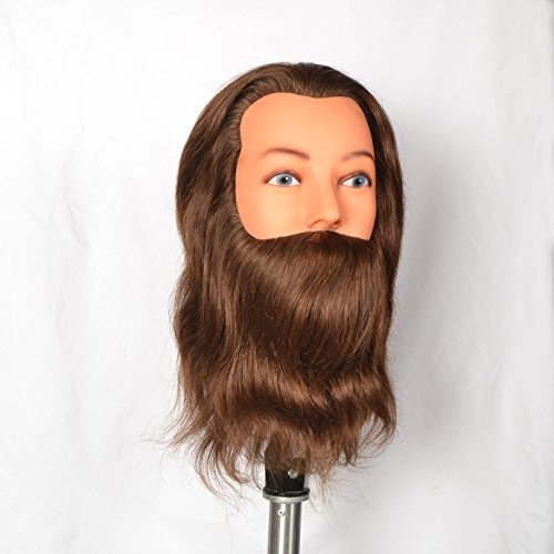 Sibel - Tête D'apprentissage Homme Leif Barbe Et Moustache 20-25 Cm