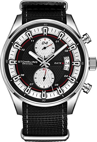 Stuhrling Original Men's Analog Watch – Stainless Steel True Dual...