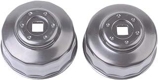 """Jogo com 2 Chaves para Filtro de Oleo do Motor-3/8"""", Kingtony Br, 9Ae2002"""