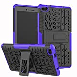xinyunew Coque Lenovo Tab E7 7.0, 360 Degres Protection Bumper + Protection en Verre Trempé Silicone Back Cover Skin Cases Housse Etui Protector pour Lenovo Tab E7 7.0 [ Pourpre ]