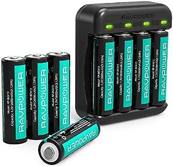 8-Pack RAVPower 2600mAh High Capacity Ni-MH Battery Pack