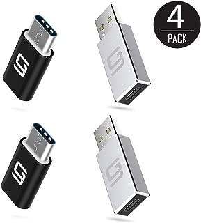 USB C - Micro USBアダプター & USB 3.0 - USB-C [4パック] Type-C USB 3.1コンバータ & コネクタ 充電&データ同期 OTG (5 Gbps)   高速充電   ノートパソコン タブレット スマートフォン と互換性あり