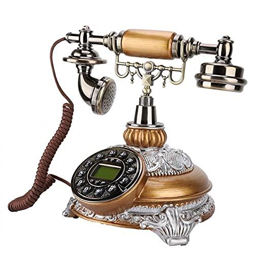 ZHPBHD Teléfono Escritorio con Cable Teléfonos Antiguos Retro Vintage Estilo Europeo Teléfono Fijo Soporte de teléfono FSK/DTMF Dual Sistema para Oficina DE Uso del HOTOR DE Oficina