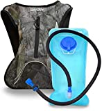 Aduro Sport Hydration Backpack [Hydro-Pro], 1.5L / 2L / 3L BPA Free Water Bladder, Unisex, Water Resistant, Durable, Light Weight, Adjustable Sizing (Black, 3 Liters (101 Fl. Oz))