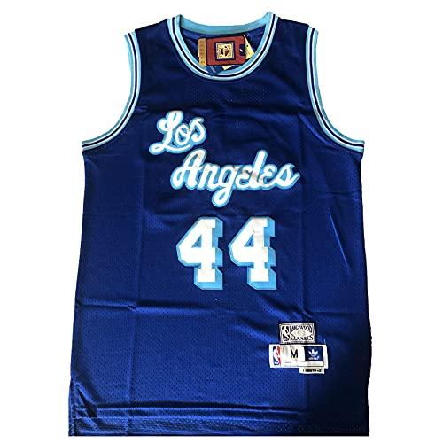 KKSY Jerseys de Hombre Jerry West # 22 Lakers Camisetas de Baloncesto Chaleco Transpirable Retro,B,L