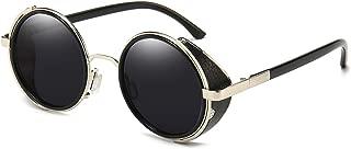 Steampunk Vintage Retro Round Sunglasses Metal Circle Frame