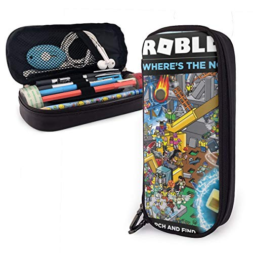 R-Obl-Ox Premium Pu Leather Pencil Case, Student Pencil Pen Stationery Holder