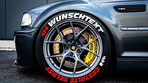 Reifenbeschriftung permanent Reifen Sticker Wunschtext Aufkleber gestalte selbst