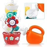 Badespielzeug Baby Badespielzeug Spinning Flower Waterfall Badespielzeug mit starken Saugnäpfen...