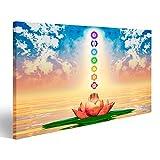 Bild auf Leinwand Heiliger Lotus und Chakren Wandbild
