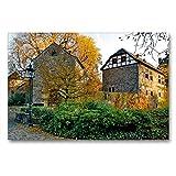 Premium Textil-Leinwand 90 x 60 cm Quer-Format Eingang |