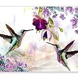 murando Fotomurales Naturaleza 350x256 cm XXL Papel pintado tejido no tejido Decoración de Pared decorativos Murales moderna de Diseno Fotográfico Colibríes Flores b-C-0188-a-a