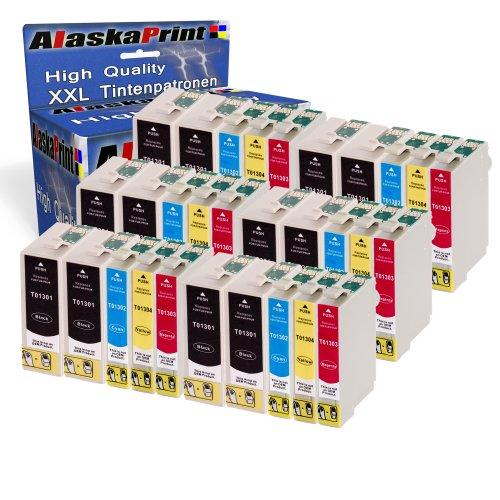 30x Druckerpatronen Komp. für Epson T1301 XL Tintenpatronen für Stylus Workforce WF3520 WF3530 WF3540 3010DW WF7015 WF7515 WF3010 Stylus Office BX525WD