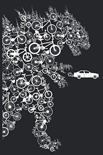 Bike Monster: Ein Notizbuch mit 120 Seiten liniertem Papier in 6 x 9 Zoll Format (ca. A5 / 15,24 x 22,86 cm)