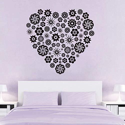 Klein model bloem, hart, muurstickers, creatief design, voor de badkamer.