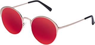 Hawkers Men's Gold Red Fairfax FAF02 Oval Sunglasses, Red, 12 mm