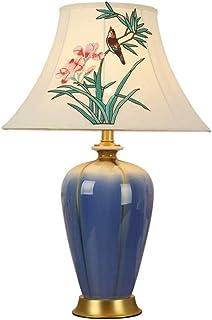 WYBFZTT-188 Modern Home Lampe De Table, Tissu Abat Corps De La Lampe en Céramique, Convient for Le Salon, Chambre À Coucher
