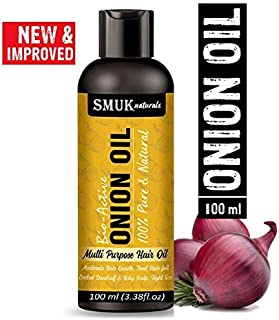 SMUK NATURALS Onion Oil for Hair Growth control for Men & Women. 100ml.