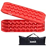ALL-TOP 4x4 Recovery Boards - 2 Pcs Off Road Traction Tracks Mat for Sand Mud Snow 4WD Track Tire Ladder + Storage Bag (Red)
