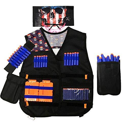 Yencoly Chaleco al Aire Libre, Chaleco para niños, Actividades al Aire Libre Ligeras y ecológicas para Juegos de tácticas(Skull Vest)