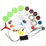 Kits de engranajes, coche de juguete DIY accesorios Motores gusanos cinturones bujes poleas ruedas engranajes surtido
