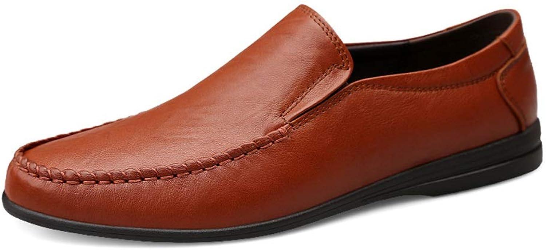 Schuhe Herren Klassische Moderne Oxford Schuhe Penny Schlupfschuhe Echtleder Driving Dress Schuhe Leichtgewicht Herren Lederschuhe, rotbraun - Größe  39 EU
