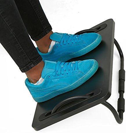 Mind Reader Rest, Ergonomic Foot, Pressure Relief for Comfort, Back, and Body, Black, 3 Height