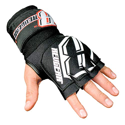 Revgear Neoprene High-Performance Gel Pro Hand Wraps | Wear Under Boxing or MMA Glove | Attached 120 inch Elastic Wrist Wrap | Ultra-Comfortable Anti-Shock Wrap for Training, Sparring, Fighting (Pair)