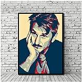 xuxiaojie Sean Penn Poster Leinwand Malerei Druck Wandkunst