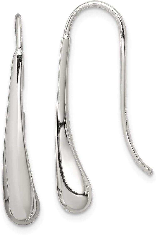 Beautiful Sterling silver 925 sterling Sterling Silver Teardrop Wire Earrings