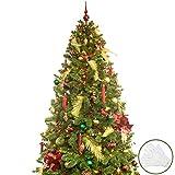 BusyBee Árbol de Navidad Artificial de 210 cm con 360 Luces LED y 152 Decoraciones...