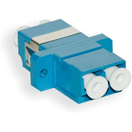 Comm Cable LC to LC Duplex Singlemode Coupler Blue LC Fiber Optic Adapter 5 Pack